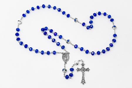 Lourdes Blue Rosary Beads.
