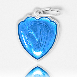 Blue Heart Lourdes Pendant.