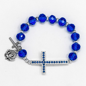 Cross Rosary Bracelet.