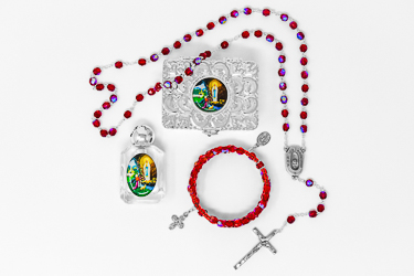 Lourdes Water Rosary Gift Set