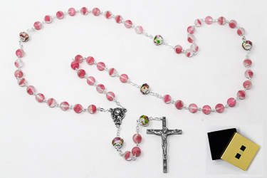 Beautiful Bohemian Glass Crystal Rosary.