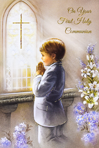 Boy's Communion Card.