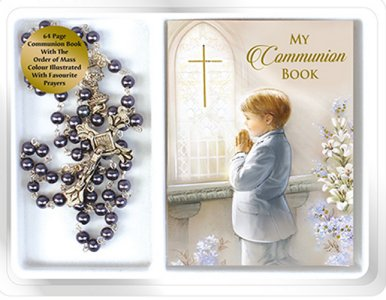 Boy's Communion Rosary & Prayer Book.