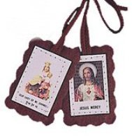 Brown Scapular & Leaflet