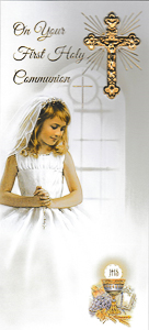Girl's Communion Card Boxed.