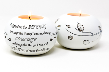 God Grant Me Serenity Candle Holder.