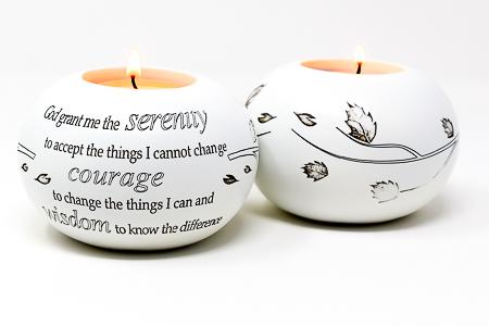 God Grant Me Serenity Candle Holder.