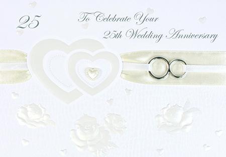 Card 25th Wedding Anniversary