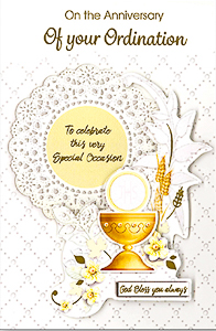 Ordination Anniversary Card.