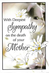 Sympathy Card.