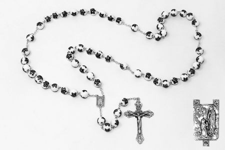 Ceramic Lourdes Rosary Beads