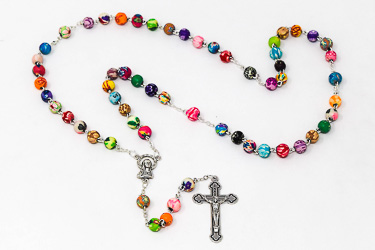 Children's Multi Colored  Rosary Beads.