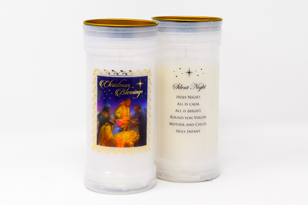 Christmas Blessings Pillar Candle.