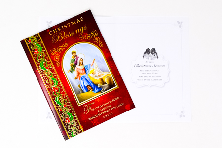 Christmas Blessings Card.