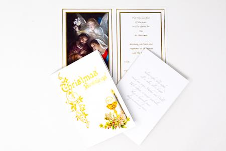 Christmas Priest Card Parchment.