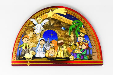 Folding Nativity Triptych.