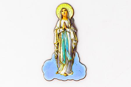 Color Our Lady of Lourdes Magnet.