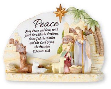 Christmas Nativity Plaque.