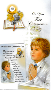 Boys Communion Card