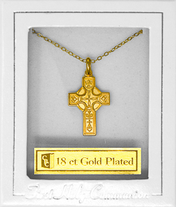 First Communion Celtic Cross Necklace.
