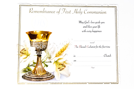 Communion Certificate.