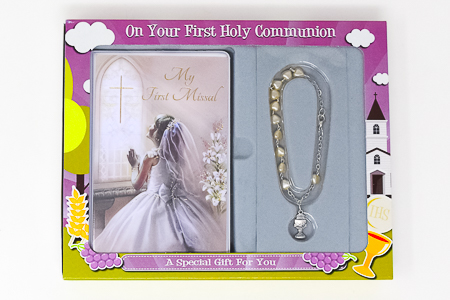 Communion Keepsake Bracelet Gift Set