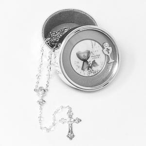 Silver Plated Communion Metal Photo Box.