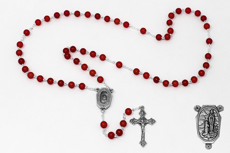Genuine Coral Rosary.