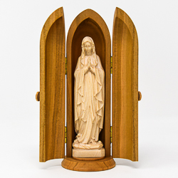 Wood Carving Statue of Our Lady of Lourdes