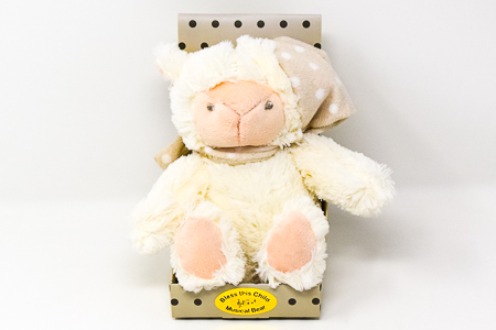 Cream Musical Baby Plush Bear.