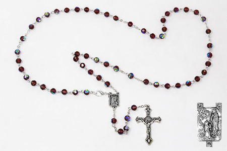 Amethyst Crystal Rosary Beads.
