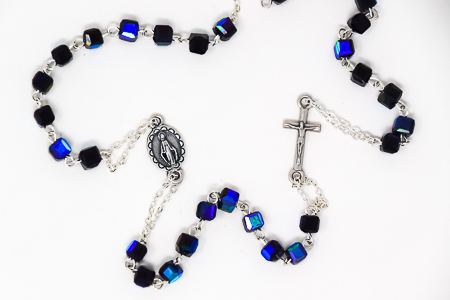 Miraculous Black Rosary Necklace