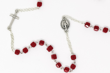 Miraculous Red Rosary Necklace