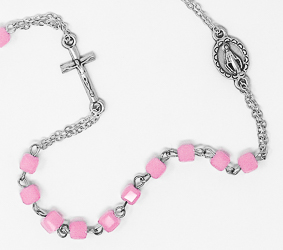 Miraculous Rose Rosary Necklace