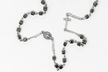 Miraculous Silver Rosary Necklace