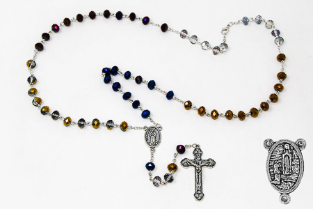 Multicolor Crystal Rosary Beads.