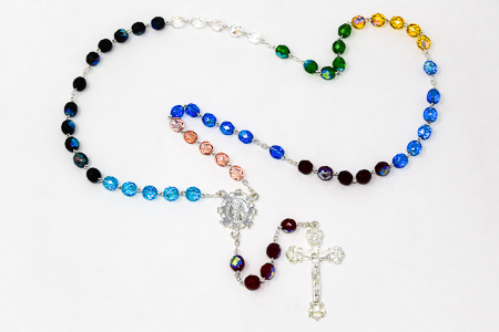 Crystal Rosary Beads.