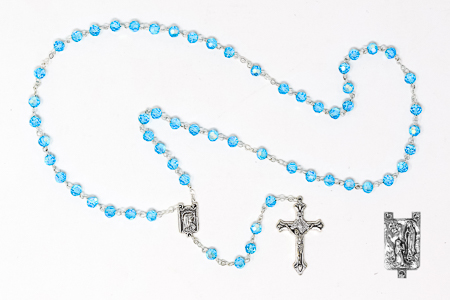 Turquoise Crystal Rosary Beads.