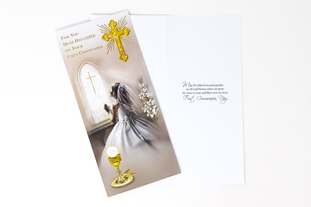 Daughter's Communion Card Boxed.