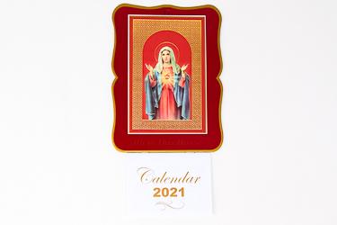 Immaculate Heart of Mary Calendar.