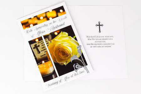 Death of Your Husband Sympathy Card.