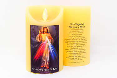 Divine Mercy Wax Candle.