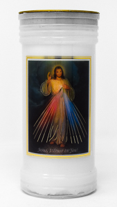 Divine Mercy Pillar Candle.