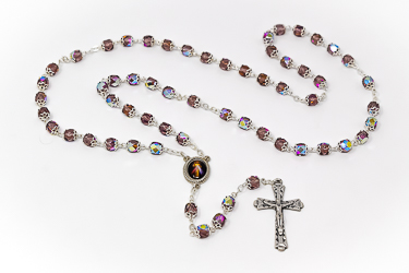 Divine Mercy Crystal Rosary Beads.