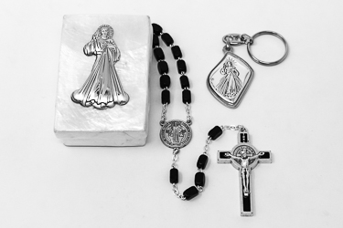 Divine Mercy Rosary & Key Ring Gift Set.