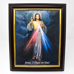 Divine Mercy Framed Picture.