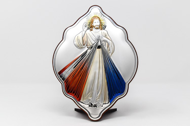 Divine Mercy Silver Wall Plaque.