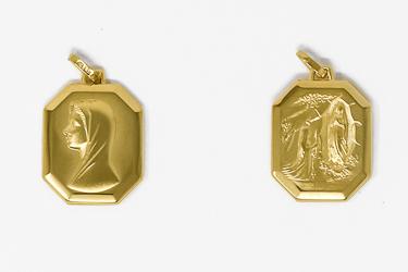 Our Lady of Lourdes, 9 kt Gold Medal.