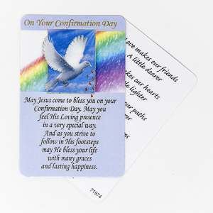 Dove Confirmation prayer card.