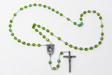 Bottle of Lourdes Holy Water /& Murano Glass Rosary Beads Lourdes Catholic Gifts